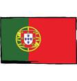 grunge portugal flag or banner vector image