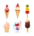 Ice Cream Realistic Set vector image