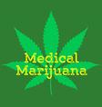 medical cannabis marijuana abstract sign vector image