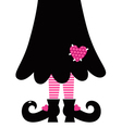 Cute Valentines Witch legs isolated on white vector image vector image
