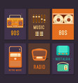 cards and posters retro music vector image