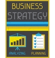 Business strategy Retro poster in flat design vector image