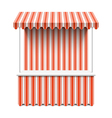 Market stall vector image