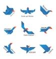 Set of origami birds vector image