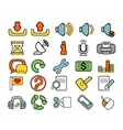 40 doodle web icons vector image