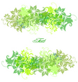 frame background with flowers vector image vector image