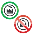 Factory permission signs vector image