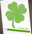Four-leaf clover doodle vector image