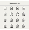 black Clipboard icons set vector image