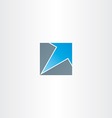 blue arrow in square icon vector image