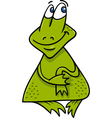 frog or toad cartoon vector image