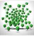 green cubes vector image