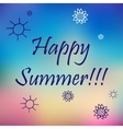 Happy summer Poster on blue mesh background vector image