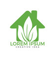 house with leaf logo template vector image