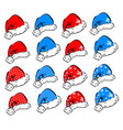set of decorative elements for christmas and new vector image
