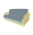sofa blue furniture couch isolated interior modern vector image
