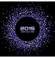 Violet Bright New Year 2015 Background vector image