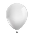 white balloon isolated on white background vector image