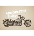 Vintage motorcycle Hand drawn retro motorbike vector image