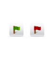 red and green flags for web vector image