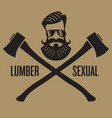 lumbersexual hipster design vector image vector image