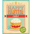 easter cake color vector image vector image
