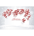 Christmas Red Decorations vector image