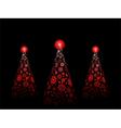 snowflake christmas trees vector image vector image