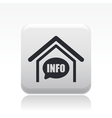 info box icon vector image vector image