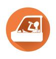 Drunk driving symbol vector image