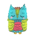 cute cartoon owl animal vector image