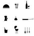 kitchen accessories black vector image