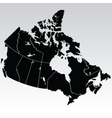 Map of canada vector image