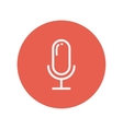 Old microphone thin line icon vector image