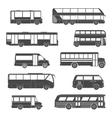 Passenger Bus Icons Black vector image
