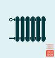 radiator icon heating radiator with adjuster of vector image