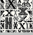 seamless vintage pattern letter X vector image