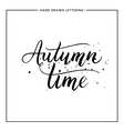 Autumn time text - hand painted lettering with vector image