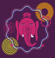 spring meditation Ganesh poster vector image