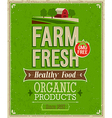 farm fresh color vector image