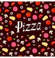 pizza pattern headline vector image