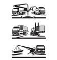 Construction and lifting transportation vector image