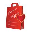 valentine shopping bag vector image