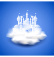 Air castle on blue background vector image