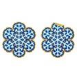 snowflake sticker vector image vector image