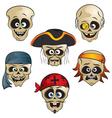 funny pirate skull vector image