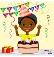 african american boy boy celebrating his birthday vector image