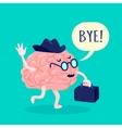 Brain In Hat vector image