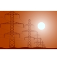 electric post concept for vector image