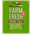 farm fresh color vector image